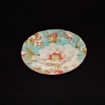 222 Fifth Marley Teal Dessert Plate