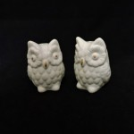 Arlington Designs Ceramic White Owl Salt & Pepper Shakers