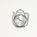 Black Metal Tea Pot Clock