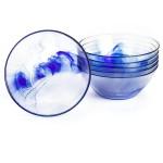 Bormioli Rocco Murano Cobalt Swirl Salad Bowl