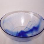 Bormioli Rocco Murano Cobalt Swirl Serving Bowl
