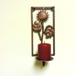 Bronze Sunflower Candle Sconce