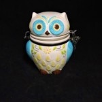 Ceramic Owl Hinged Jar