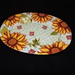 Ceramic Sunflower Platter