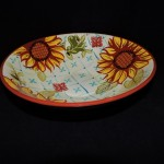 Ceramic Sunflower Serving Bowl