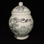 Ceramic Toile Ginger/ Cookie Jar