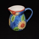 Certified International Hand Painted Blue Sunflower Pitcher