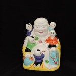 Clay Art Buddha Cookie Jar