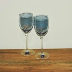 Cristalleria Fumo Blue Wine Glass
