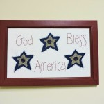 "Designs By Kathy Americana Classic ""God Bless America"" Wall Hanging"