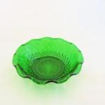 Vintage Green Diamond Cut Bowl