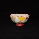 Dutch Wax Hand Painted Ceramic Flower Bowl