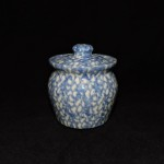 Gerald Henn Blue Spongeware Sugar Bowl