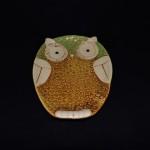 Gibson Glazed Stoneware Owl Plate