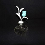 Glass Perfume Bottle With Owl Stopper