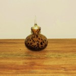 Hand Blown Brown Spotted Perfume Bottle