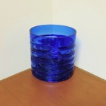 Hand Blown Cobalt Blue Bowl/ Vase