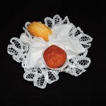 Hand Made Burano Lace Roll Basket
