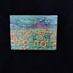Hand Made Wood Sunflower Farm Wall Hanging