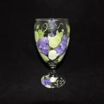 Hand Painted Lilac Ice Tea Glass