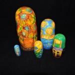 Hand Painted Russian VanGogh Nesting Dolls