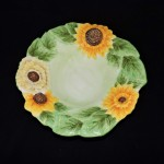 Hand Painted Sunflower Serving Bowl