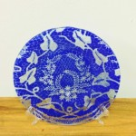 Handmade Fused Glass Cobalt Blue Plate