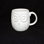 Home Essential Ceramic White Owl Mug