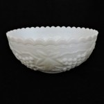 Vintage Milk Glass Grape Berry/Serving Bowl by Imperial Glass Corp