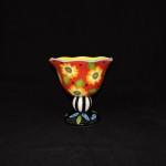 Joyce Shelton Studios Ceramic Flower Compote