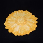 Magenta Yellow Sunflower Salad Plate