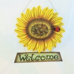 Metal Sunflower Welcome Sign