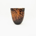 Oval Hand Blown Brown Vase