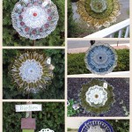 Repurposed Glass Garden Flowers