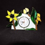 Stained Glass Sunflower Clock