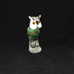Tall Art Glass Owl