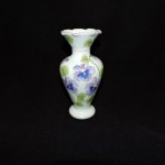 Vintage Andrea by Sadek Vase With Purple Pansies