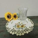 Vintage Crystal Footed Celery Vase