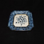 Vintage Decorative Plate With Blue Flowers
