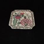 Vintage Decorative Plate With Mauve Flowers