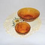 Vintage Indiana Glass Co Marigold Basket Weave Chip & Dip