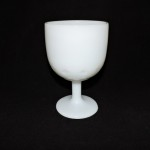 Vintage Milk Glass Goblet With Stars