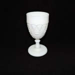 Vintage Milk Glass Jewel & Dewdrop Goblet