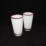 White Tumbler With Red Rim