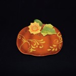 Ceramic Pumpkin & Sunflower Plate