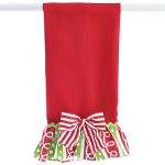 Christmas Tea Towel With Red and White Bow by burton + Burton