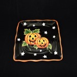 Halloween Pumpkin Salad Plate