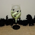 Hand Painted Scary Fingers With Spider Goblet