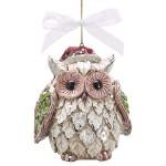 burton + Burton Handmade Resin Santa Owl Christmas Ornament