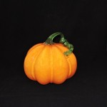 Large Art Glass Pumpkin